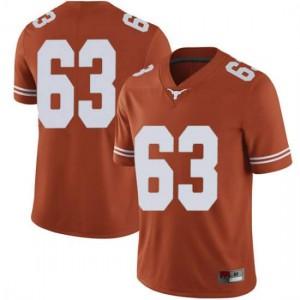 Men Texas Longhorns Troy Torres #63 Limited Orange Football Jersey 322242-727