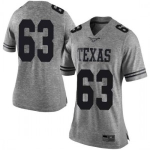 Women Texas Longhorns Troy Torres #63 Limited Gray Football Jersey 900783-604