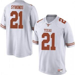 Men Texas Longhorns Turner Symonds #21 Replica White Football Jersey 224630-559