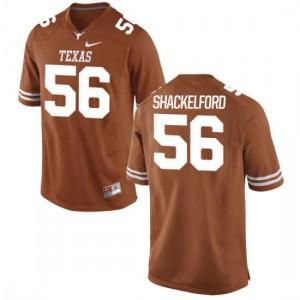 Women Texas Longhorns Zach Shackelford #56 Authentic Tex Orange Football Jersey 893403-658