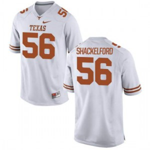 Women Texas Longhorns Zach Shackelford #56 Limited White Football Jersey 392924-629